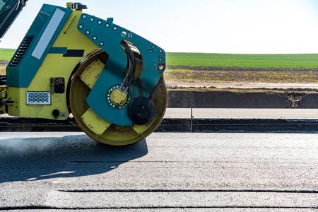 heavy equipment operator: Road rollers building the new asphalt road