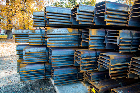 rhodium: Close view on the steel reinforcing bars