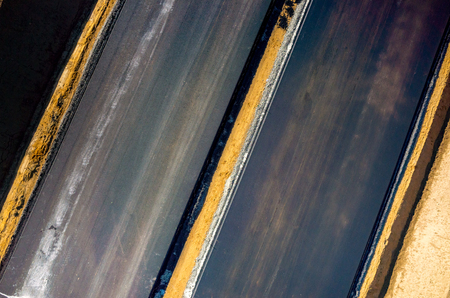 blacktopping: Aerial view on the new asphalt road under construction