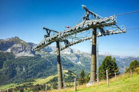 station ski: Large view on the ski station in summer