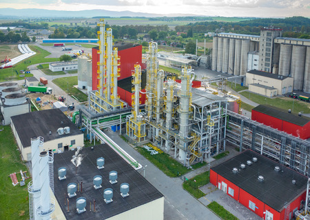 biofuel: Aerial view on the modern biofuel factory Editorial