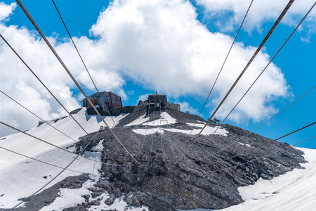 station ski: Large view on the ski station in high Alps