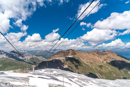 Large view on the ski station in high Alps