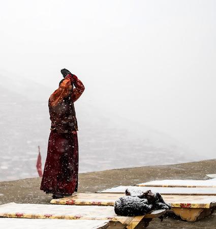 heavy snow: Pilgrim in the Heavy snow