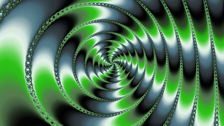 A fractal mandelbrot in a green contrast with circular and cross shape