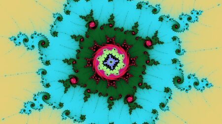Mandelbrot fractal spiral in red green and blue contrast Stock fotó