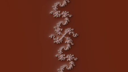 Mandelbrot fractal with a slope effect