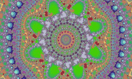 abstract colorful pattern, circular mandala Иллюстрация