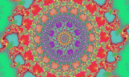Mandelbrot fractal circular pattern like a mandala