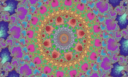 Mandelbrot fractal circular pattern Vectores