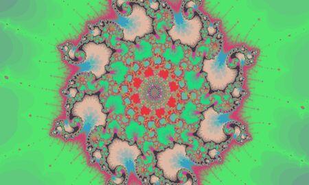 Mandelbrot fractal, circular pattern colorful