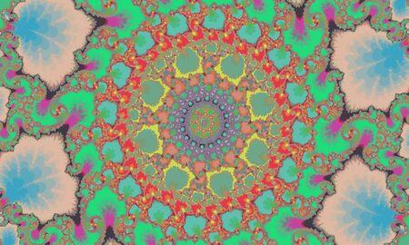 Mandelbrot fractal, circular pattern mandala