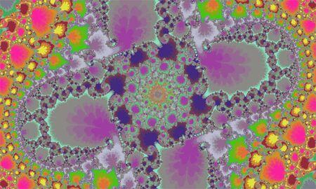 Mandelbrot fractal circular pattern mandala