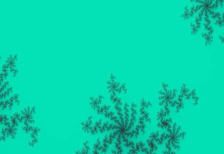 Mandelbrot fractal spiral green contrast