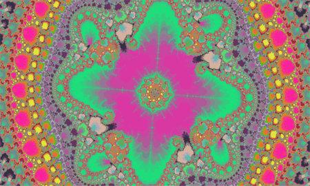 Mandelbrot fractal background colorful contrast, mandala style