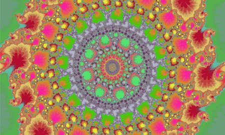 Mandelbrot fractal circular pattern infinite spirals colorful like a mandala vector
