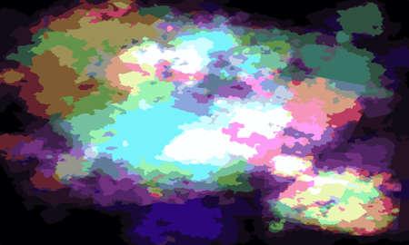 Mandelbrot fractal infinite spirals colorful with black background