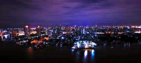 Bangkok at night Stock Photo