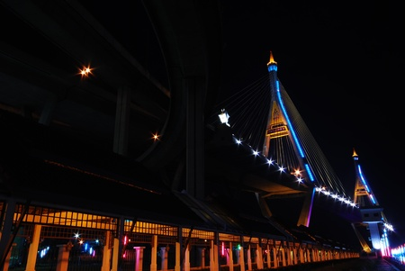 Bhumibol Bridge in Thailand photo