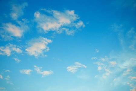 Beautiful blue sky in winter climate Stock Photo - 11675791