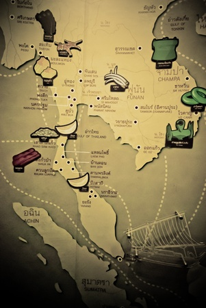 This was map of Thailand in the past which shown the what provinces can created raw materials - Thailand map - Map of Thailand -  photo