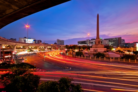 victory monument - center of Bangkok with beautiful sky photo