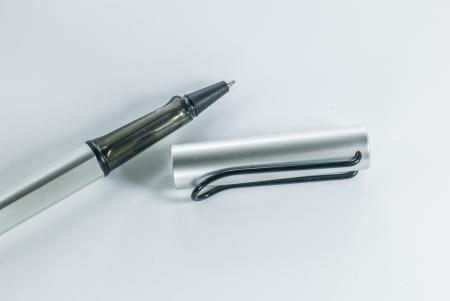 pen on white background - black fountain pen isolated - Ballpoint Pen - Black Ball Point Pen photo