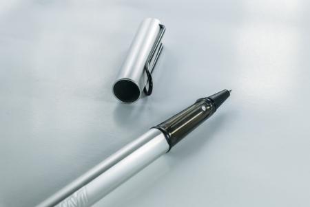 pen on white background - black fountain pen isolated - Ballpoint Pen - Black Ball Point Pen Stock Photo - 14411864