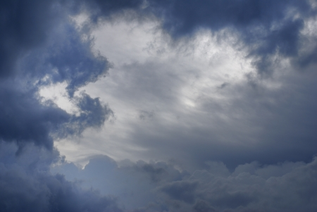 Beautiful blue sky with colorful during storm coming Stock Photo - 14536251