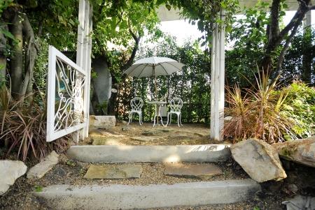 Entrance to sweet garden Stock Photo - 14537452