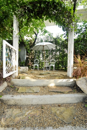 Entrance to sweet garden  photo