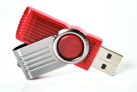 Usb flash memory isolated on the white background - Handy drive - Thumb drive - Portable flash usb drive - usb stick Stock Photo - 14593691