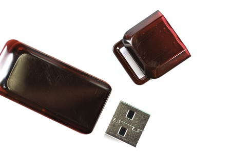 Usb flash memory isolated on the white background - Handy drive - Thumb drive - Portable flash usb drive - usb stick Stock Photo - 14593695