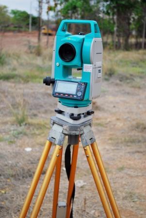 Survey equipment theodolite with digital display Stock Photo - 14609138