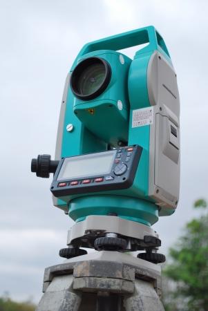 polar station: Survey equipment theodolite with digital display