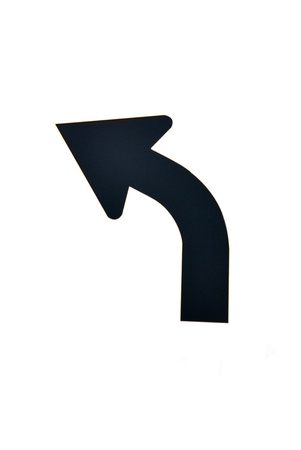 turn: direction sign arrow,isolated - black arrow