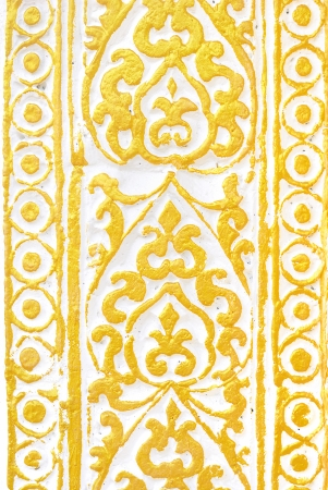 Seamless wallpaper background floral vintage gold - Gold metal pattern on white background photo