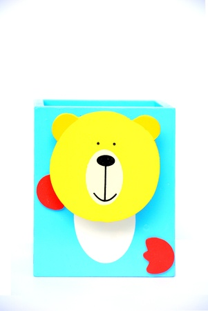Holder basket with teddy bear doll - Back to school - Pencil box photo