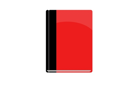 new books: Blank book cover red - Hardcover book isolated on white background