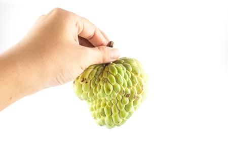 chirimoya: Exotic fruit on white
