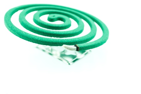 Smoke spiral usable against mosquitoes and other insects - Burning mosquito coil as anti insect photo