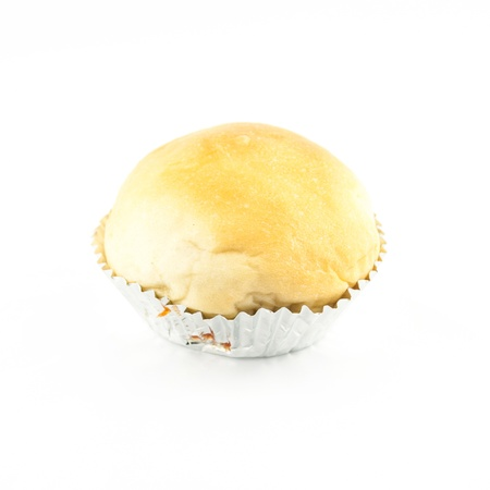 breadloaf: Bread or buns isolated on white background - Breads rolls. Sausage bread
