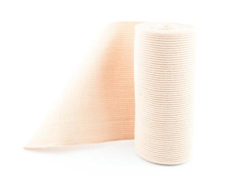 immobilize: Elastic bandage - medical elastic tensor bandage on white Stock Photo