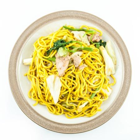 yakisoba: Fried noodles Japanese Yakisoba Stock Photo