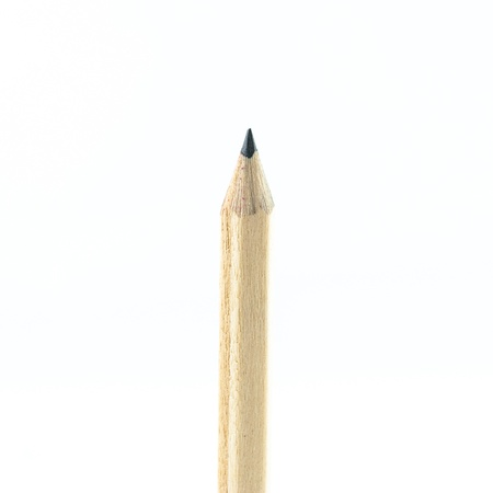 Wooden Pencil isolated on white background photo