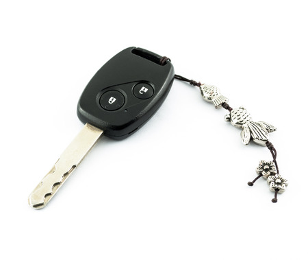 A modern car's remote control starter key with key-chain Stock Photo - 22419665