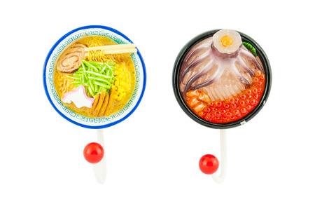 ramen: Ramen noodle magnet with hanger  Stock Photo