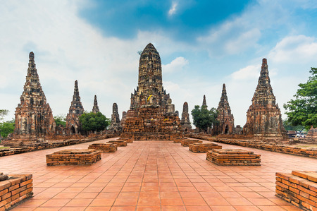 ayuttaya: Ruins of ancient Chaiwattanaram temple in Ayuttaya, Thailand