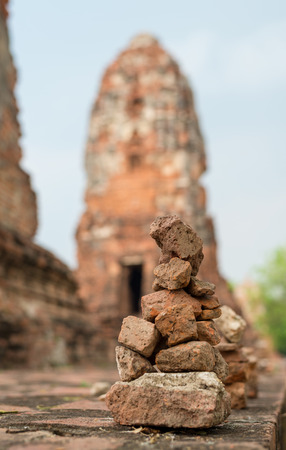 historical architecture: Old post and brick wall of historical architecture Stock Photo