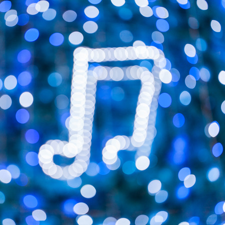 Abstract glowing shapes on a colorful background - Music Party Bokeh Background - musical background